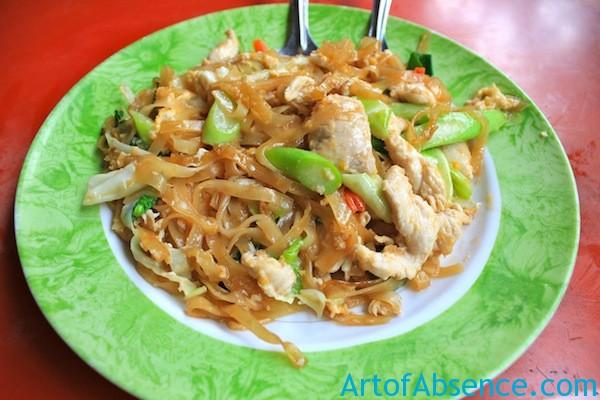 Pad Thai Noodles, Street Food in Bangkok