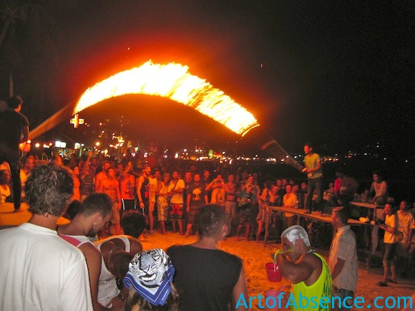 Skipping Rope Soaked in Kerosene at The Full Moon Party