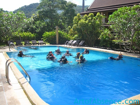 Diver Training Pool Koh Tao