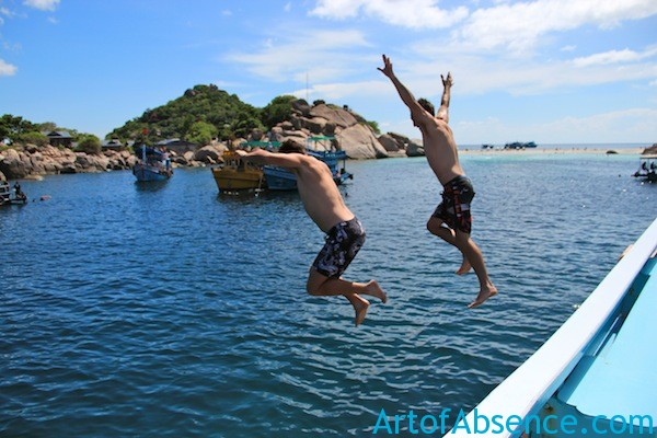 Jumping From The Boat - Koh Tao