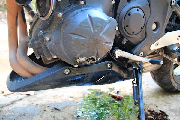 Damaged Motorbike