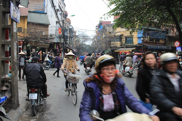 Motorcycles in Hanoi Vietnam