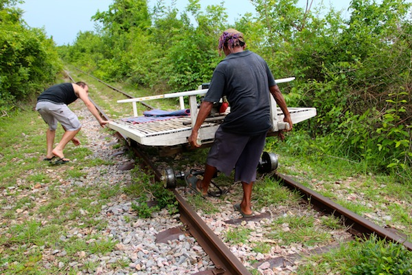 Assembling The Bamboo Train