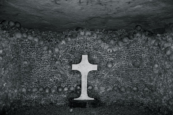 catacombs cross & skulls