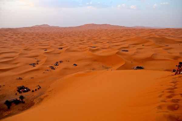 the sahara near merzouga morocco